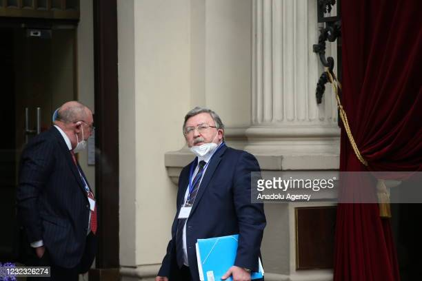 Ambassador Mikhail Ulyanov, Permanent Representative of Russia to the UN Vienna Office leaves after attending the meeting of Joint Comprehensive Plan...