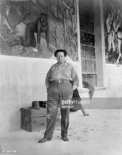 Ambassador Morrow's Gift to Mexico$16000 Mural Cuarnavaca Mexico Diego Rivera considered to be the finest painter of murals in the world with a...
