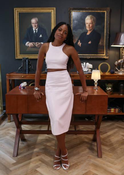 GBR: Naomie Harris Visits OMEGA Bond House at Burlington Arcade