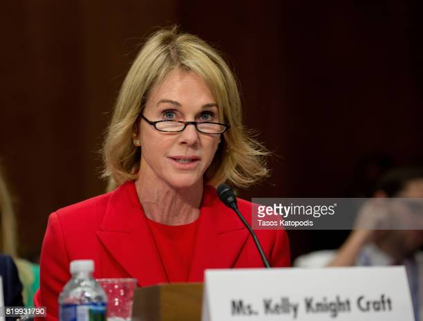Ambassador Nominee Kelly Craft on Capitol Hill on July 20 2017 in Washington DC