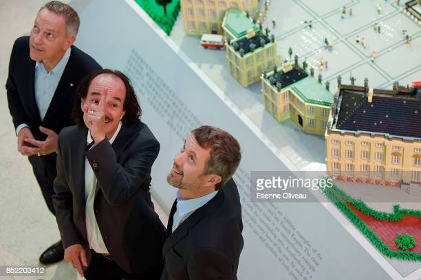 Ambassador of Danmark A Carsten Damsgaard Director of DCC Eric Messersmidt and The Crown Prince Frederik of Denmark look up standing in front of a...
