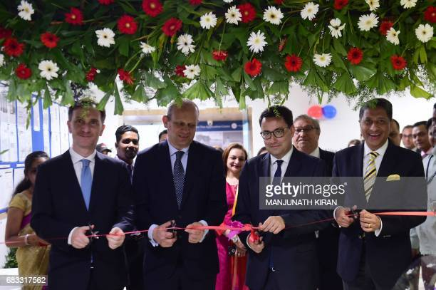 Ambassador of France to India Alexandre Ziegler Consul General of France in Bangalore Francois Gautier Deputy Director of Visa Policy at the Ministry...