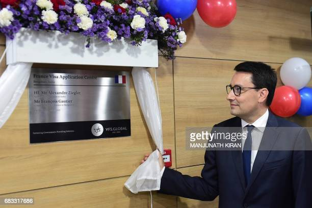 Ambassador of France to India Alexandre Ziegler opens the French Visa Application Centre at the Schengen Visa Application Centre at the Global Tech...
