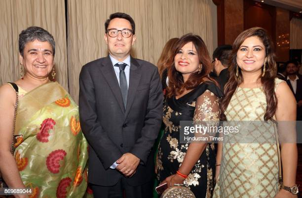 Ambassador of France to India Alexandre Ziegler with Ratan Kaul during the celebrations for National Day of Algeria hosted by the ambassador of the...