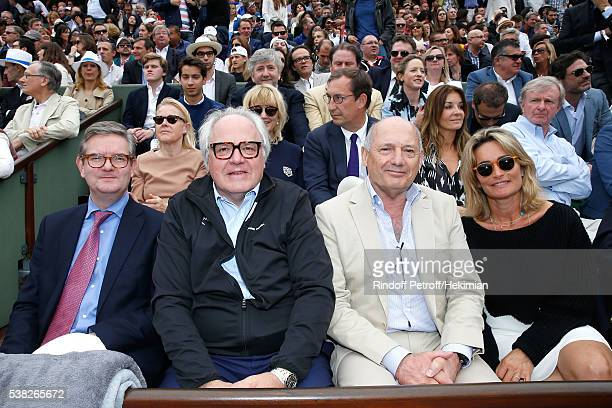 Ambassador of Great Britain in France Sir Julian King CEO of Moet Hennessy Christophe Navarre Leader of the McLaren Technology Group Ron Dennis and...