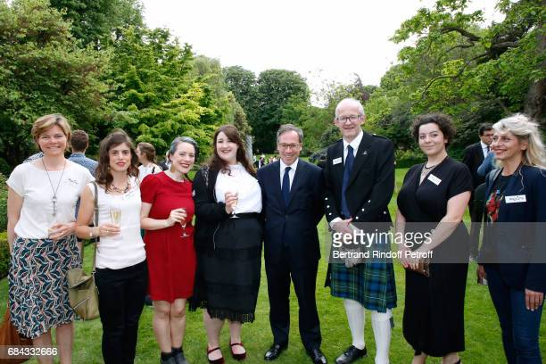 Ambassador of Great Britain to paris Lord Ed Llewellyn and neighbours attend the Neighbours' Day Cocktail at British Embassy on May 17 2017 in Paris...