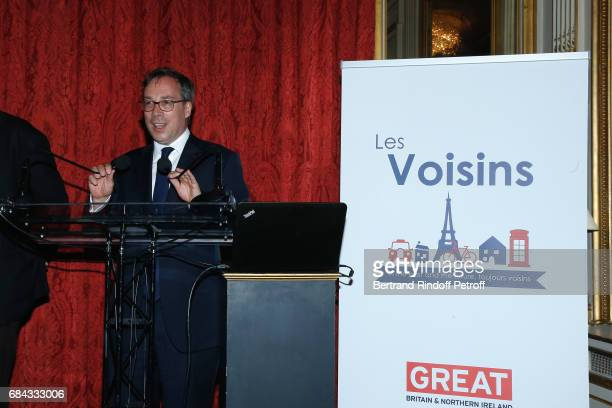 Ambassador of Great Britain to paris Lord Ed Llewellyn attend the Neighbours' Day Cocktail at British Embassy on May 17 2017 in Paris France