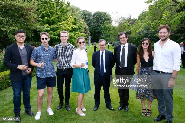Ambassador of Great Britain to paris Lord Ed Llewellyn Creator of the Neighbours' Day Atanase Perifan and neighbours attend the Neighbours' Day...