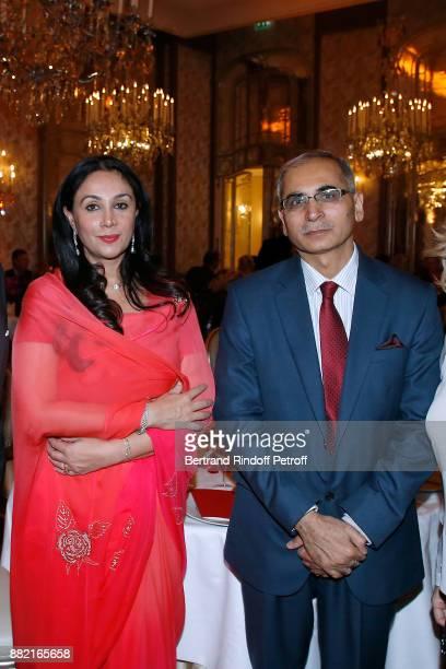 Ambassador of India to France Vinay Mohan Kwatra and HRH Princess Diya Kumari of Jaipur attend the Charity Gala to Benefit the 'Princess Diya Kumari...