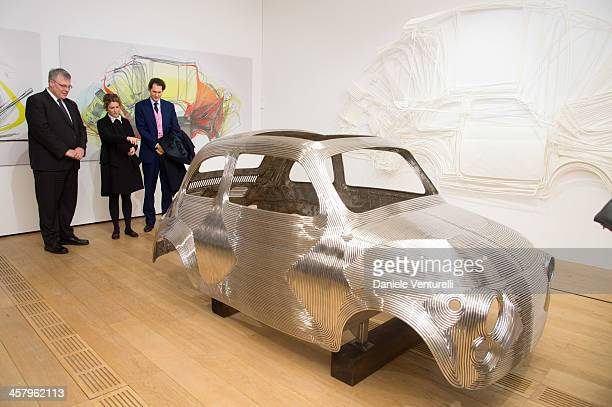 Ambassador of Israel to Italy Naor Gilon Ginevra Elkann and Fiat Chairman John Elkann attend Ron Arad 'In reverse' exhibition with Fiat as a main...
