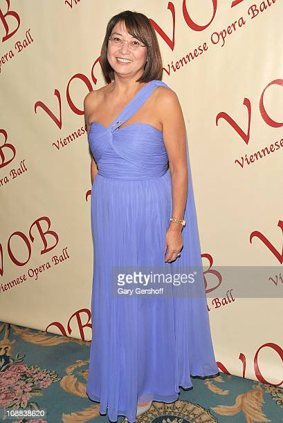 Ambassador of Kazakhstan to the UN HE Mrs Byrganym Aitimova attends the 56th annual Viennese Opera Ball at The Waldorf=Astoria on February 4 2011 in...