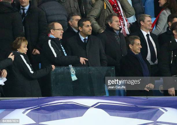 Ambassador of Monaco in United Kingdom Evelyne Genta Prince Albert II of Monaco Chairman of Manchester City Khaldoon Al Mubarak former French...