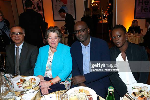 Ambassador of Morocco to France Chakib Benmoussa Princess Chantal de France Football player Lilian Thuram and his sister Liliana attend the 24th...