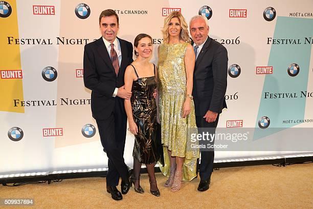 Ambassador of Spain Pablo GarciaBerdoy Cerezo and his wife Ines Carvajal Argueelles HansReiner Schroeder and his wife Katerina Schroeder during the...