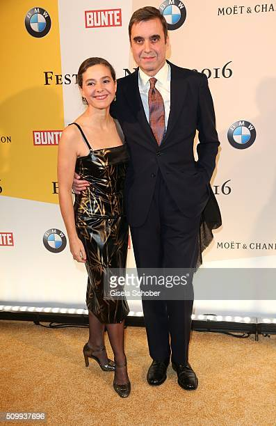 Ambassador of Spain Pablo GarciaBerdoy Cerezo and his wife Ines Carvajal Argueelles during the Bunte and BMW Festival Night 2016 during the 66th...