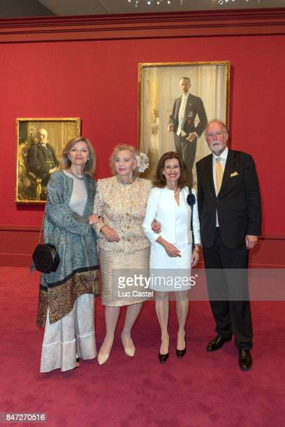 Ambassador of Sweden to France Veronika WandDanielsson Countess Marianne Bernadotte de Wisborg guest and Curator Magnus Olausson attend the Swedish...