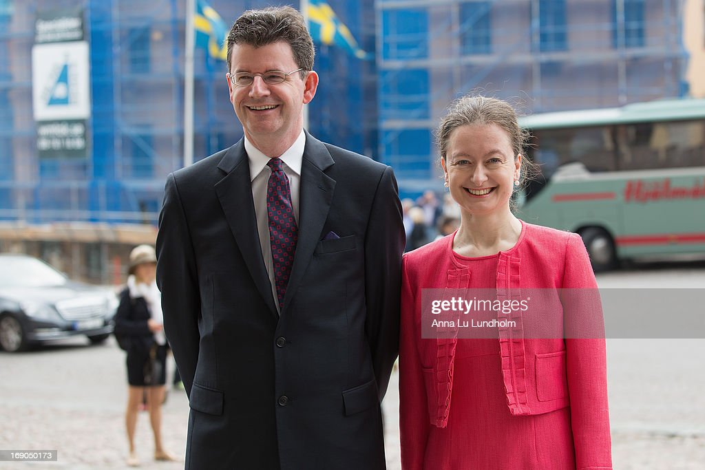 Ambassador of the United Kingdom Mr. Paul Charles Johnston and Mrs. Nicola Johnston visits the Wedding Preparations for H.K.H. Princess Madeleine and Mr. Christopher O'Neill on May 19, 2013 in Stockholm, Sweden.