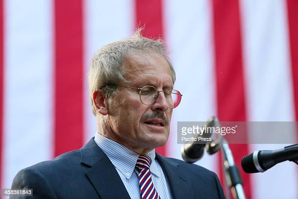 US EMBASSY BAKU AZERBAIJAN Ambassador of the United States to Azerbaijan Robert Cekuta speaks during the ceremony marking the US Independence Day at...
