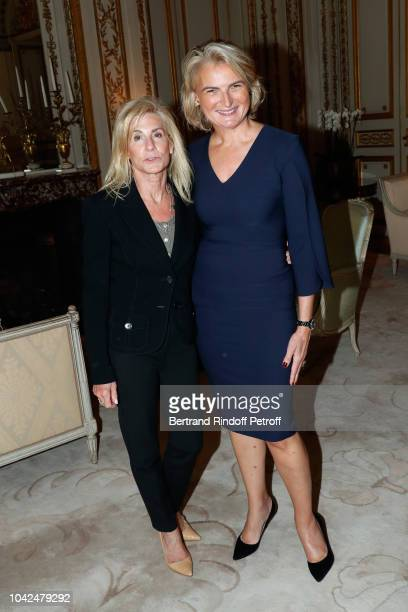 Ambassador of USA to Paris Jamie McCourt and Chairman of the American Friends of the Paris Opera and Ballet Ms Olivia Flatto attend the Ambassador of...