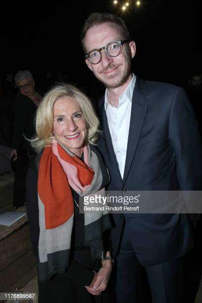 Ambassador of USA to Paris Jamie McCourt and Ludovic Watine Arnault attend the Christian Dior Womenswear Spring/Summer 2020 show as part of Paris...