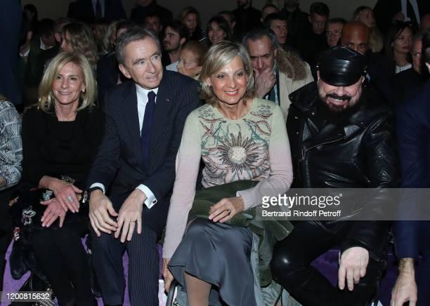 Ambassador of USA to Paris Jamie McCourt Bernard Arnault Helene Arnault and Peter Marino attend the Dior Haute Couture Spring/Summer 2020 show as...