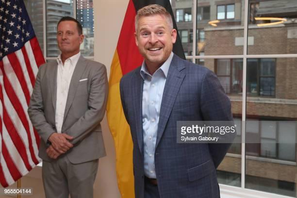 Ambassador Richard Grenell and Matt Lashey attend Ambassador Grenell Goodbye Bash on May 6 2018 in New York City