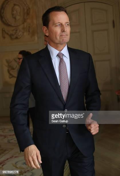 S Ambassador Richard Grenell attends a reception for the internaitonal diplomatic corps hosted by German Chancellor Angela Merkel at Schloss Meseberg...