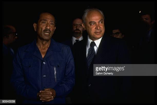 US Ambassador Robert Strauss and Egyptian President Anwar Sadat