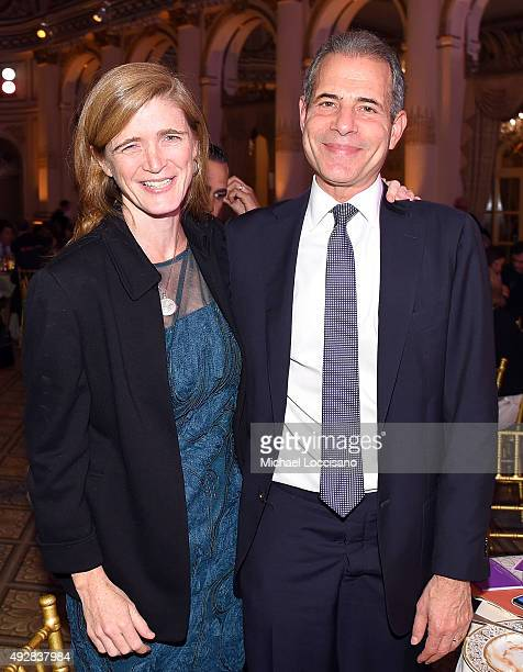 Ambassador Samantha Power and Secretary of State for Public Diplomacy and Public Affairs Richard Stengel attend New York Women's Foundation hosts...