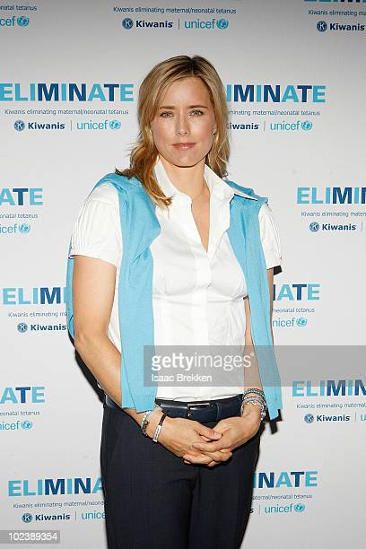 Ambassador Tea Leoni attends the 95th Annual Kiwanis International Convention June 24 2010 in Las Vegas Nevada Leoni announced a parternship between...