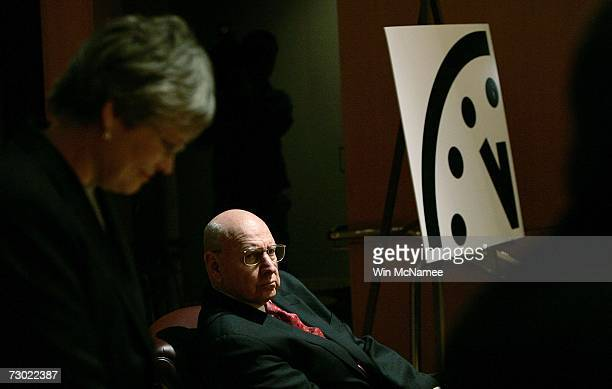 Ambassador Thomas Pickering and Kennette Benedict participate in a press conference held by the The Bulletin of Atomic Scientists where it was...