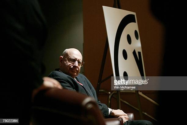 Ambassador Thomas Pickering participates in a press conference held by the The Bulletin of Atomic Scientists where it was announced that the group is...
