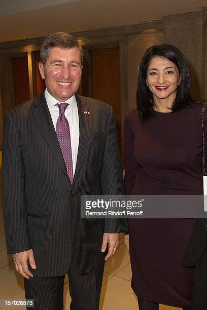 S Ambassador to France Charles H Rivkin and Former Minister and member of the French Council of State Jeannette Bougrab attend the annual gala...