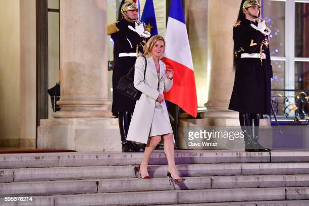US ambassador to France Jamie McCourt former wife of Olympic Marseille owner Frank McCourt leaves a function prior the reception for the France...