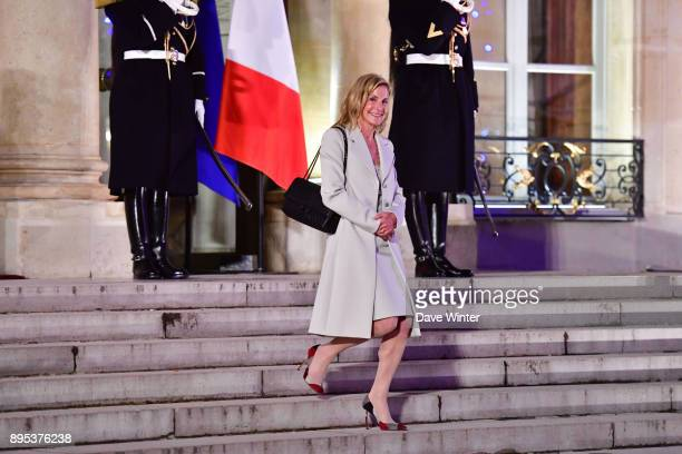 US ambassador to France Jamie McCourt former wife of Olympic Marseille owner Frank McCourt leaves a function prior to the reception for the France...