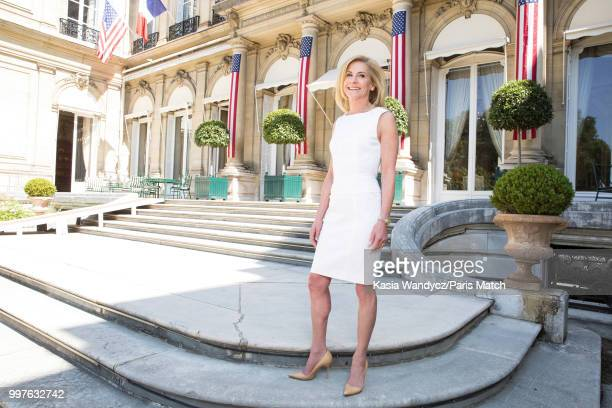 Ambassador to France Jamie McCourt is photographed for Paris Match on June 27 2018 in Paris France