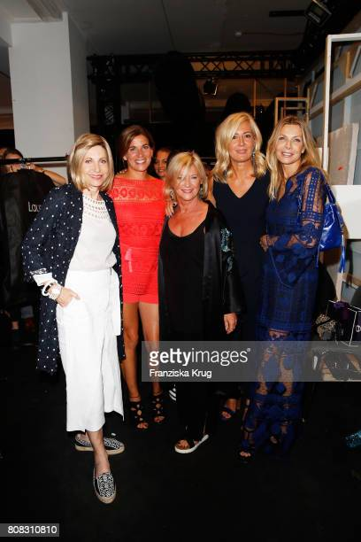 Ambassador to Germany Kimberly Emerson MarieJeanette Ferch designer Elisabeth Schwaiger Judith Milberg and Ursula Karven attend the Laurel show...