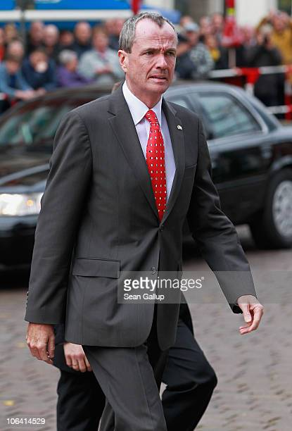 S Ambassador to Germany Philip Murphy arrives for the memorial service for Loki Schmidt wife of former German Chancellor Helmut Schmidt at the St...