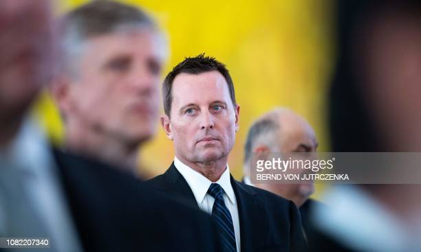 US ambassador to Germany Richard Allen Grenell attends a new year's reception of the German President on January 14 2019 in Berlin A transatlantic...
