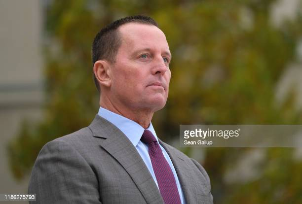 S Ambassador to Germany Richard Grenell waits for the arrival of US Secretary of State Mike Pompeo for talks with German Defense Minister Annegret...
