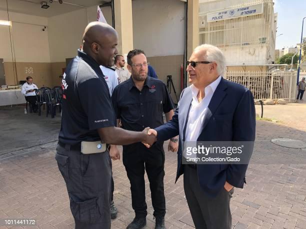 Ambassador to Israel, David Friedman, visiting Sderot's fire station along the Gaza Strip, Israel, August, 2018. Image courtesy Avida Landau/U.S....