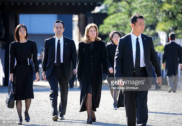US Ambassador to Japan Caroline Kennedy attends the funeral of late Prince Mikasa at Toshimagaoka Cemetery on November 4 2016 in Tokyo Japan