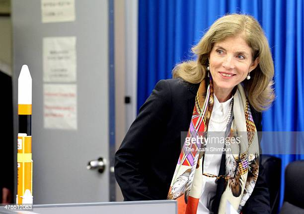 US Ambassador to Japan Caroline Kennedy speaks during a press conference after the H2A Launch Vehicle No 23 carrying the Global Precipitation...