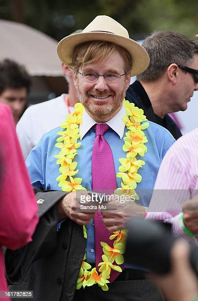 Ambassador to New Zealand David Huebner is seen at the Pride parade on February 16 2013 in Auckland New Zealand The gay parade celebrating lesbian...