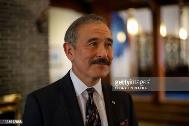 US Ambassador to South Korea Harry Harris poses for a photo after a group interview at the ambassador's residence in Seoul on January 16 2020...