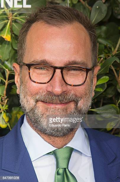US ambassador to Spain James Costos attends the National Geographic Channel 15th Anniversary photocall at the EEUU embassy on July 14 2016 in Madrid...