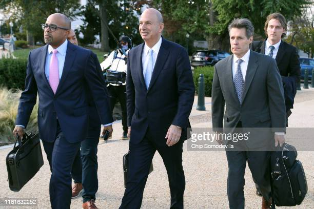 S Ambassador to the European Union Gordon Sondland arrives at the US Capitol on October 17 2019 in Washington DC Sondland is expected to testify...