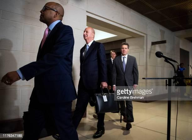 Ambassador to the European Union Gordon Sondland center arrives at the US Capitol in Washington on Thursday Oct 17 2019