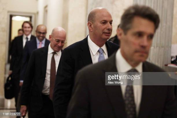 S Ambassador to the European Union Gordon Sondland leaves after a closed session before the House Intelligence Foreign Affairs and Oversight...