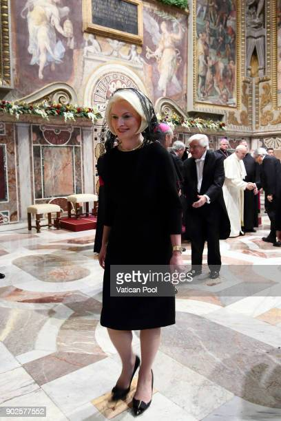 S ambassador to the Holy See Callista Gingrich attends Pope Francis' State Of The World Address to accredited ambassadors to the Holy See at the Sala...